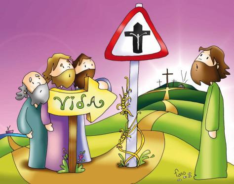 La cruz en el cruce del camino.