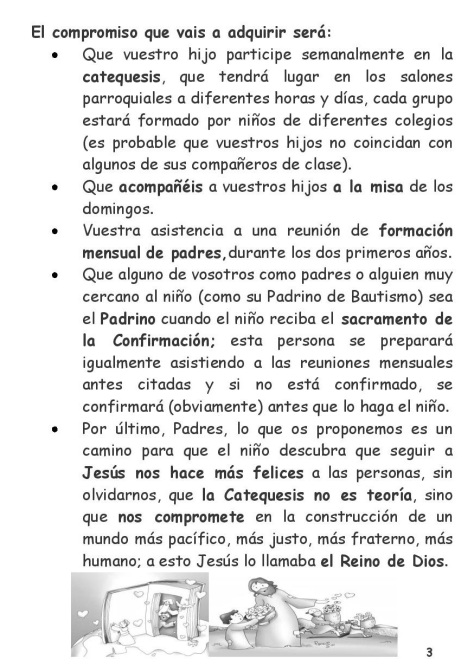 Carta Catequesis 3