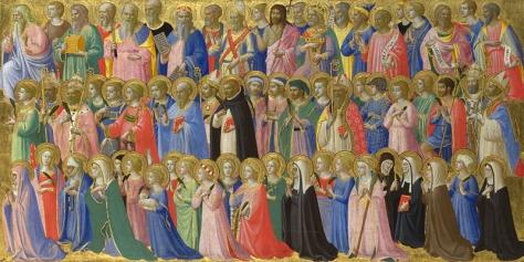 """""""Los precursores de Cristo con los santos y mártires"""" Fra Ángelo. 1423-24"""